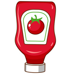 ketchup bottle on white background vector image