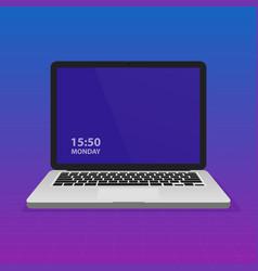 laptop notebook computer on modern gradient vector image