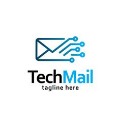 mail logo vector image