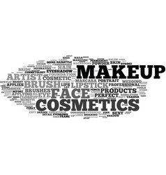 Makeup word cloud concept vector