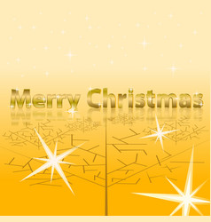 merry christmas inscription with gold text vector image