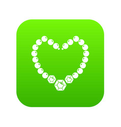 necklace icon green vector image