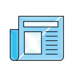 Newspaper journal isolated icon vector