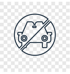 no drugs concept linear icon isolated on vector image