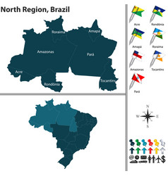 North region of brazil vector