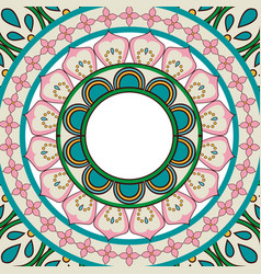 Ornate abstract color mandala element wallpaper vector