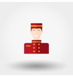 Porter Flat icon vector image