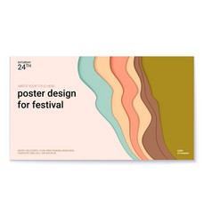 poster design for festival with abstract pattern vector image