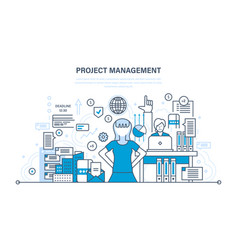 project management planning time management vector image