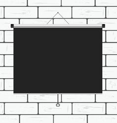 Projector screen on brick wall vector