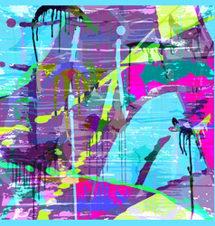 psychedelic graffiti pattern for your design vector image