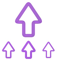 Purple up arrow logo design set vector