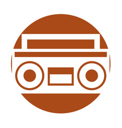 Retro radio isolated icon vector