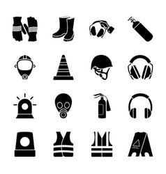 Safety equipment icons vector