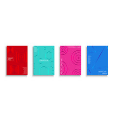 set colorful covers with gradient vector image