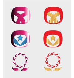 Set of 9 logo design elements and various graphics vector