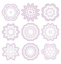 Set of decorative rosettes vector image