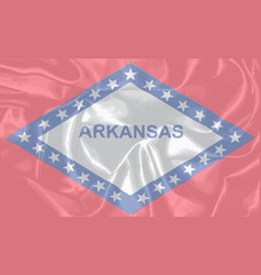 silk flag of the state arkansas vector image