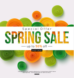 special offer spring sale banner template vector image