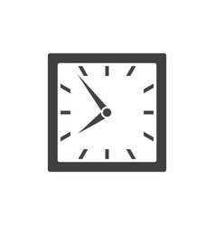 Square clock icon isolated on white background vector