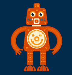 stand up robot vector image