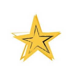 star symbol greatness vector image