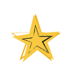 star symbol of greatness vector image