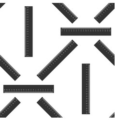 straightedge symbol ruler icon seamless pattern vector image