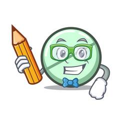 Student drug tablet character cartoon vector