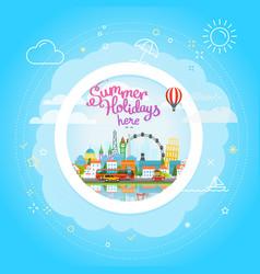 Summer travel concept vacation travelling summer vector