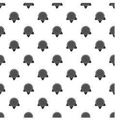 sunflower leaf pattern seamless vector image