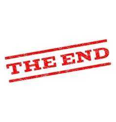 The end watermark stamp vector