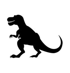 Tyrannosaurus dinosaur silhouette isolated on vector