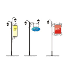 Vintage Lamp post sign vector