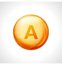 Vitamin A pill icon Retinol vitamin nutrition vector image