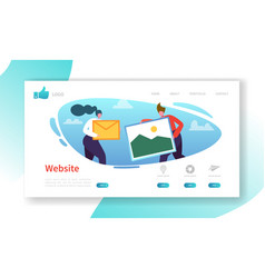 website development landing page template vector image