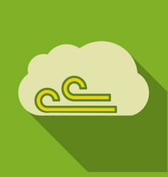 Wind icon in flat style isolated on color vector