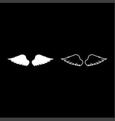 Wings bird devil angel pair spread out vector