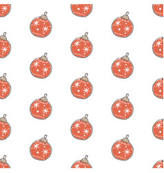 winter seamless pattern with festive ornaments vector image