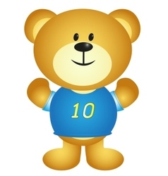 Boy Cartoon Bear vector image vector image