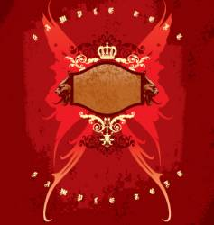 crown wings and heads vector image vector image
