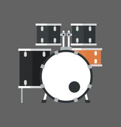drum set icon music instrument concept vector image