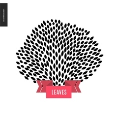 Hand drawn foliage vector image vector image