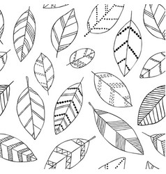 beautiful seamless doodle pattern with vintage vector image