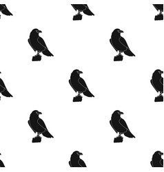 crow of viking god icon in black style isolated on vector image vector image