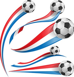 france and Netherlands flag set with soccer ball vector image vector image