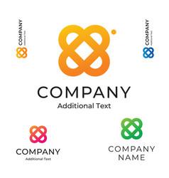 simple flower logo beautiful modern identity vector image vector image