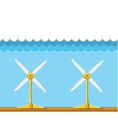 tidal power station clean renewable energy vector image vector image