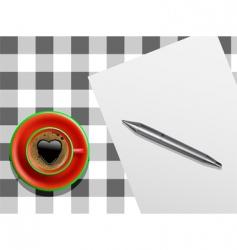 valentine letter vector image vector image