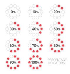 circular progress ten percentage indicators set vector image